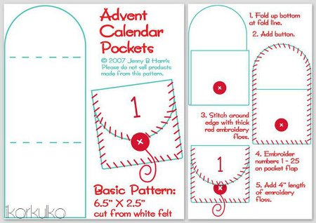 adventi naptár minta Adventi naptár ötletek 2.   szabás, varrás, hímzés adventi naptár minta